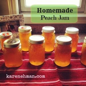 Need something yummy for that bran muffin or piece of toast? Try this peachy spread at karenehman.com