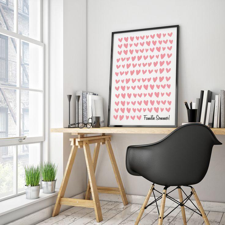 """Personalisiertes Bild """"Herzen"""", mit Rahmen Dekor, Home"""