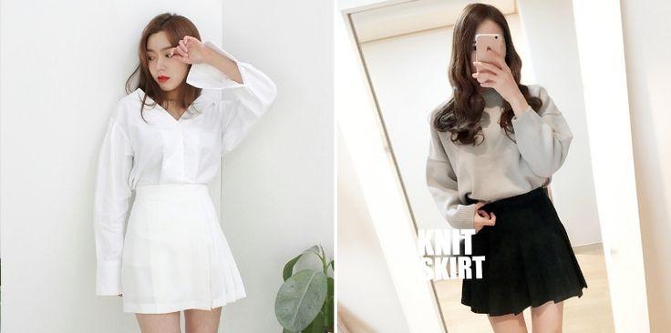 而韓系派女孩的百褶裙款,則會選擇像是網球裙般的俏麗短裙款式,將上衣紮入就很有小俏麗的街頭韻味,搭配運動鞋跟短襪就很時髦。