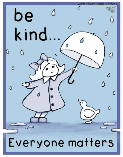 A free poster for your classroom to encourage an atmosphere of kindness and inclusion. Whimsy Workshop Teaching