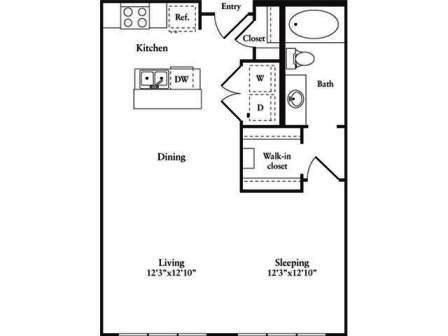 Emejing Efficiency Apartment Floor Plan Images