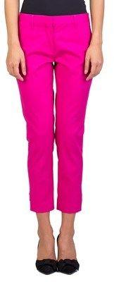 Miu Miu Women's Cotton Slim Fit Chino Pants Pink.