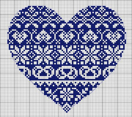 Cross Stitch Heart Pattern (Free Embroidery Pattern) - Craftfoxes this would be pretty in red, too