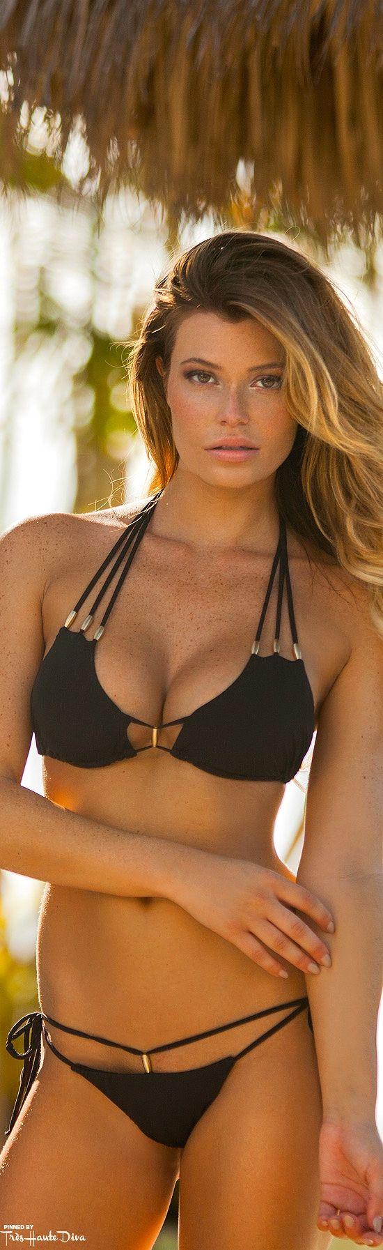 Très Haute Diva ♔ #Plumeria #Swimwear    Saba Bikini model: Samantha Hoopes