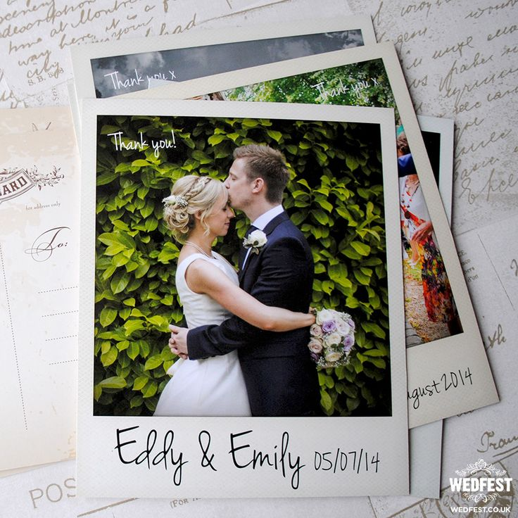 free online printable wedding thank you cards%0A I u    ve just found Polaroid Thank You Cards With Envelopes  NB  Minimum order  of These polaroid postcards are great for wedding thank you cards   wedding  save