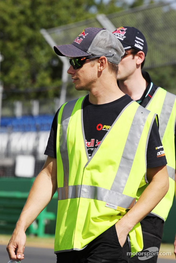 Casey Stoner, at the Albert Park circuit today......