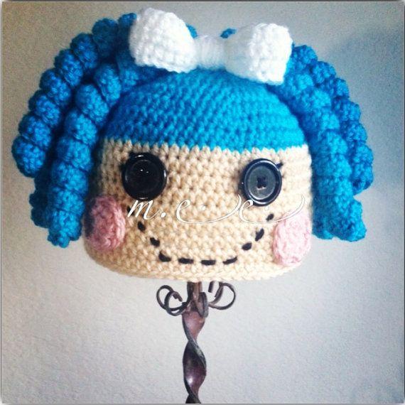 Lalaloopsy inspired crochet beanie / hat or by Miyasbabyblankets, $35.00