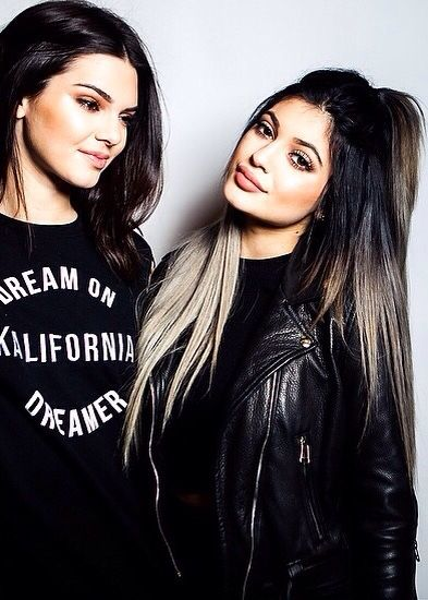 Kendall And Kylie Jenner. Low key hate them but love Kylie's hair