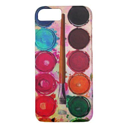 Fine Art Paint Color Box & Funny Artist Brush iPhone 7 Case - tap, personalize, buy right now!