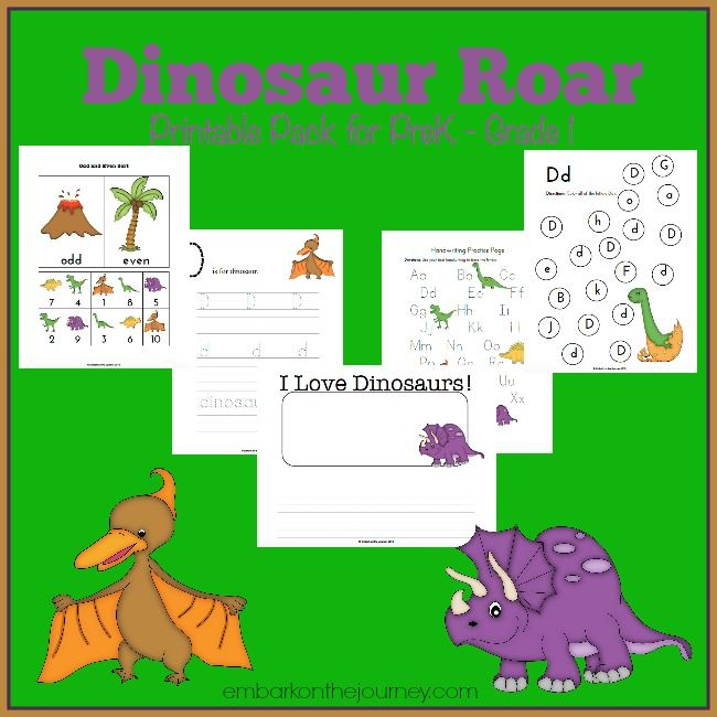 free dinosaur printable for prek grade 1 homeschool cap d 39 agde and activities. Black Bedroom Furniture Sets. Home Design Ideas