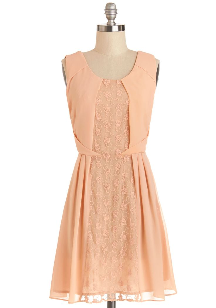 Pretty in Peach Dress   Mod Retro Vintage Dresses   ModCloth.com