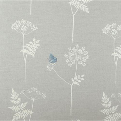 Vanessa Arbuthnott Cow Parsley - Clay, Cornflower. 60% linen 40% organic cotton. £46 pm