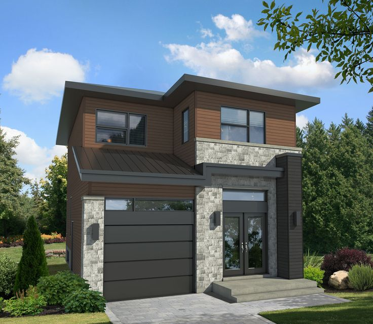 Plan PM pact Two Story Contemporary House Plan