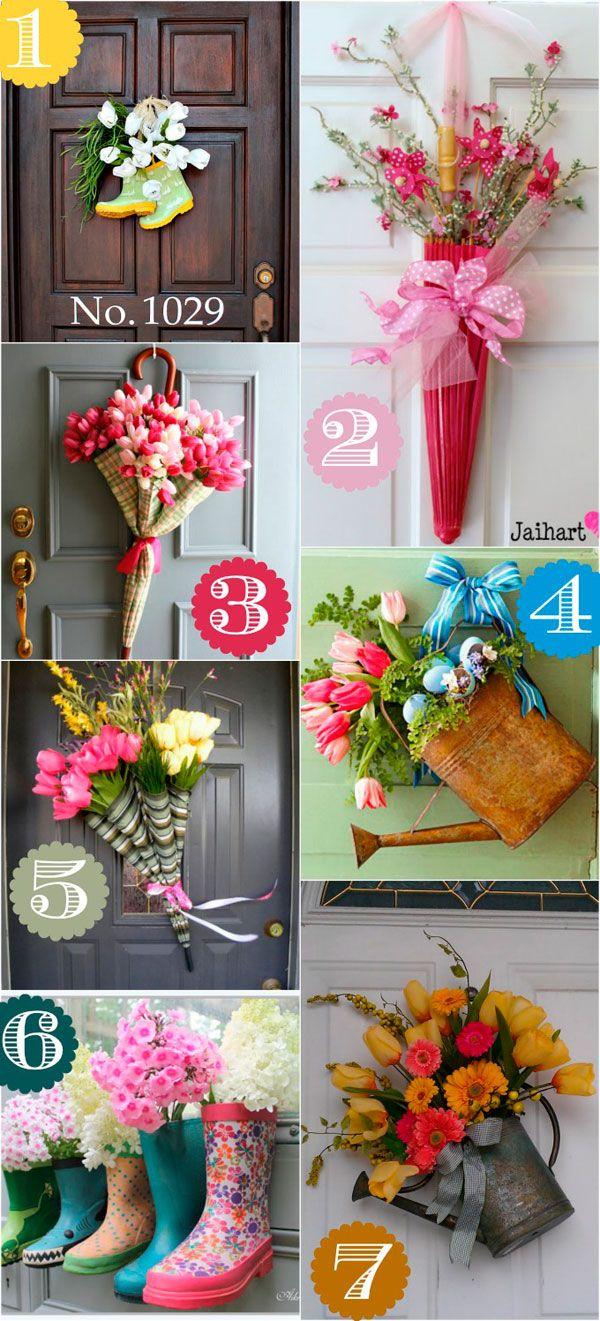 Cómo decorar puertas en primavera