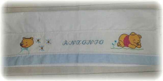 Sheet for baby cross stitch