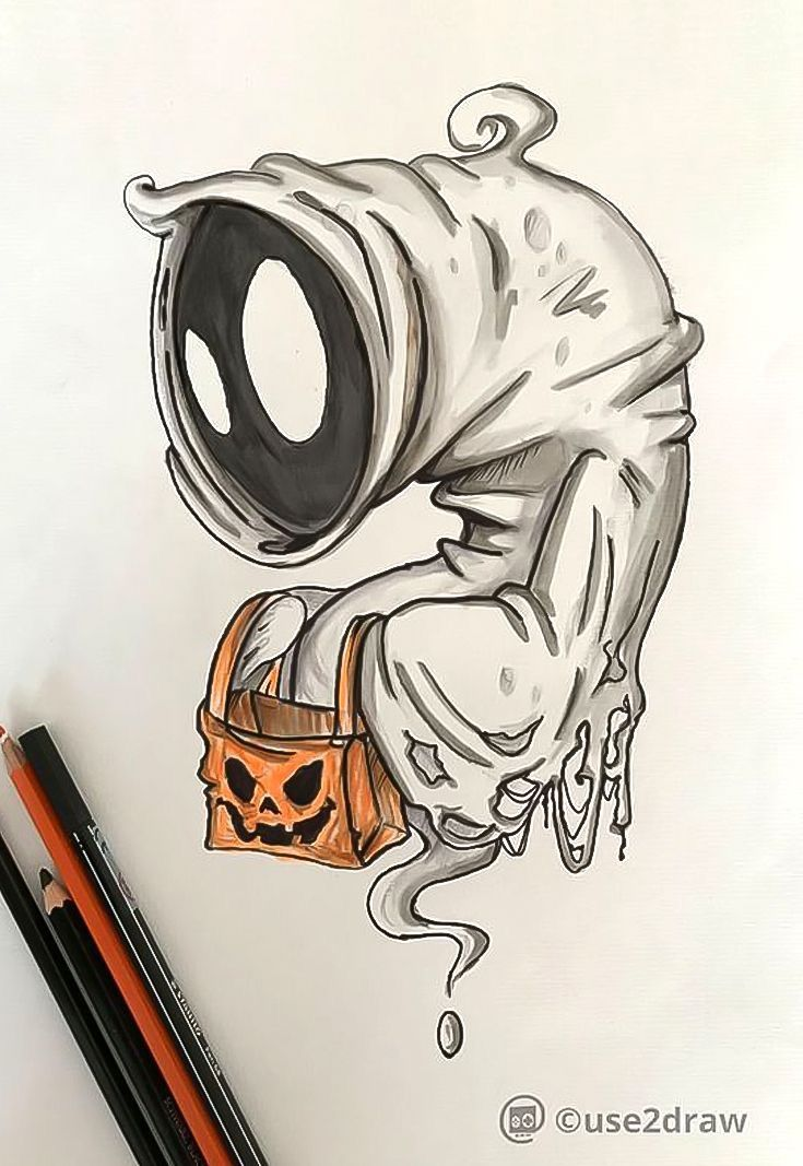 Pin De Lrony En Arte En 2019 Dibujos De Halloween Dibujos