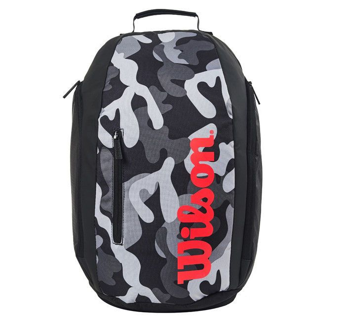 Wilson Camo Tennis Backpack Black Gray Gym Badminton Squash Racquet Wrz 842896 Wilson Badminton Bag Tennis Backpack Black Backpack