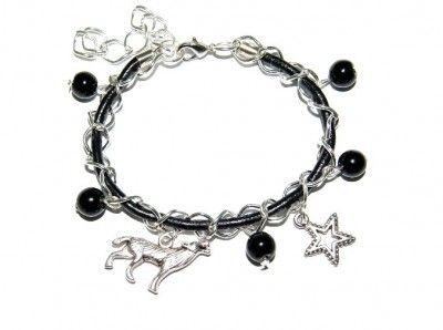 Bransoletka Charms Zmierzch. Rzemień. Wilk. #Wilk #bransoletka #bracelet #star #gwiazdka #wolf #zmierzch #Twilight