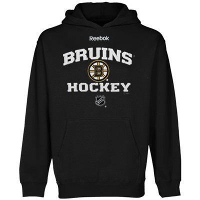 Reebok Boston Bruins Youth Authentic Predecessor Pullover Hoodie - Black