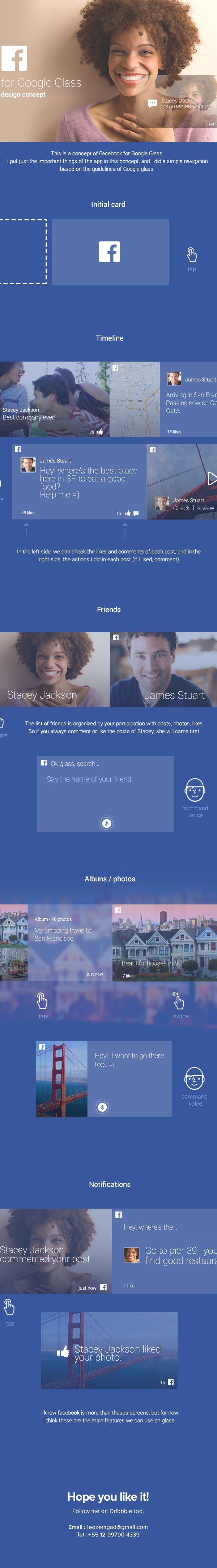Facebook for Google Glass - Concept | Abduzeedo Design Inspiration
