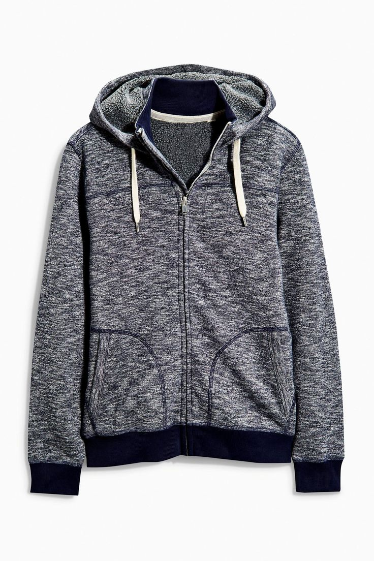 Buy Borg Lined Zip Through Hoody from the Next UK online shop