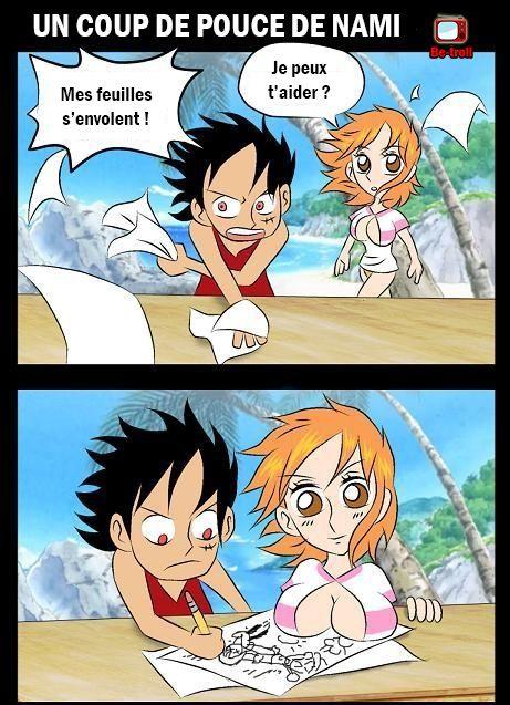 One Piece ! Un coup de pouce de Nami ! #Luffy #Dessin