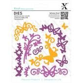 XCut Butterfly Flourish Dies 10 Pieces