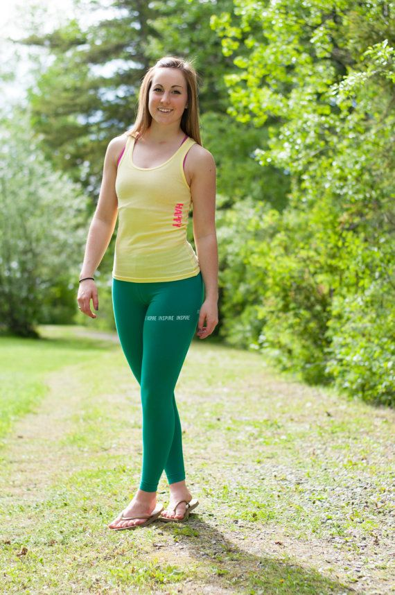 Inspire Green Workout Tights by PiperAthletica on Etsy, $38.00