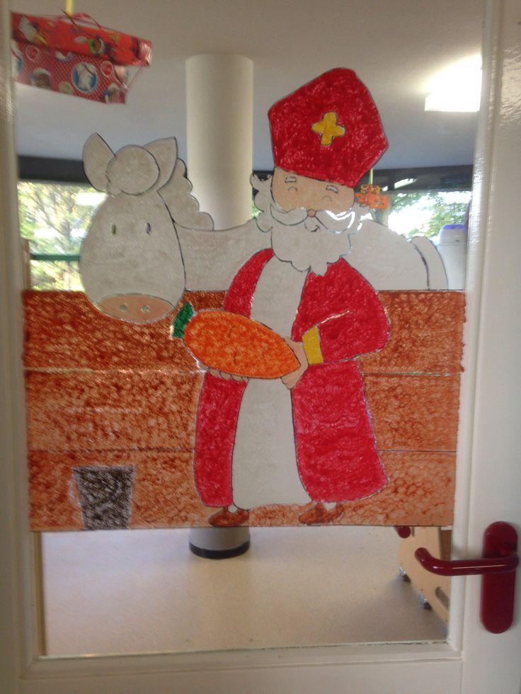 Sinterklaas raamschildering