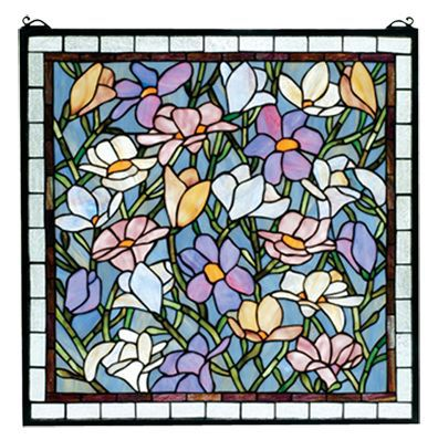 Tiffany Sugar Magnolia Stained Glass Window