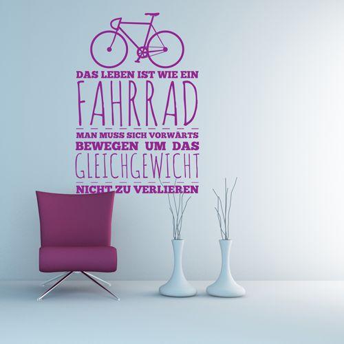 Wandtattoo - Fahrrad und Gleichgewicht