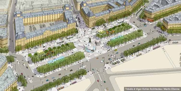 Crédits images : Agence TVK Réaménagement place de la République.
