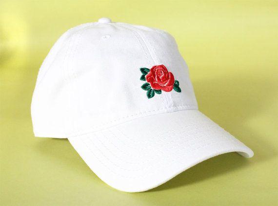 NEW Rose Dad Hat Baseball Cap low profile 100 % by BrainDazed