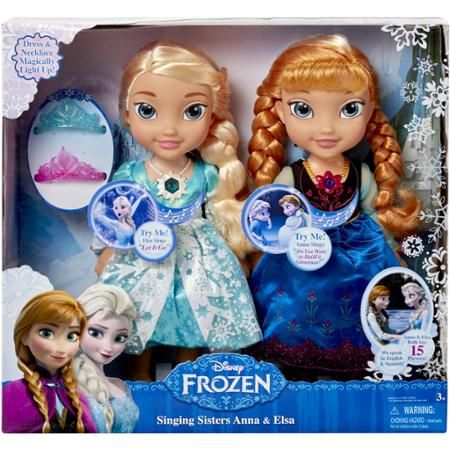Frozen Singing Sisters Elsa and Anna Dolls (Exclusive) - Walmart.com