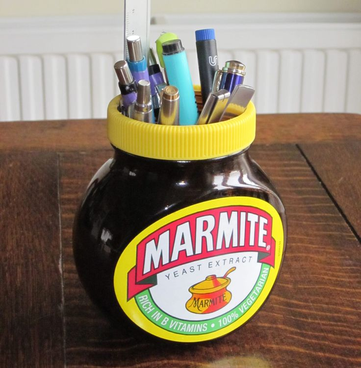 Useful things to do with an empty Marmite Jar #madebymyfather #marmite