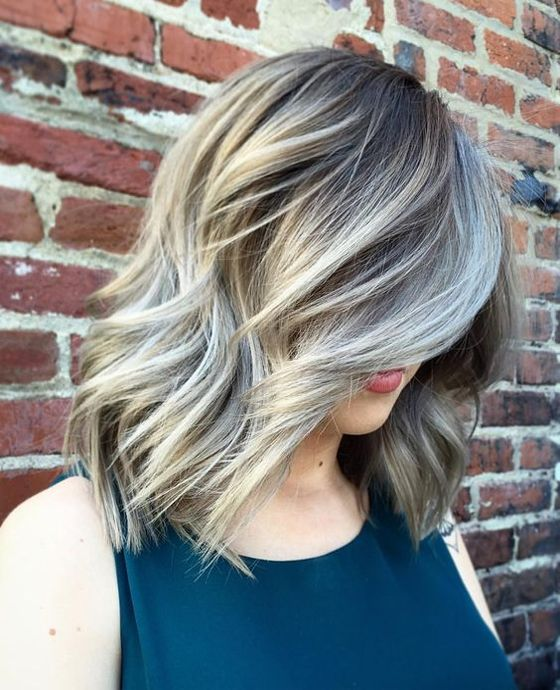 31 Stunning Grey Looks For Medium Length Hairstyles 2017