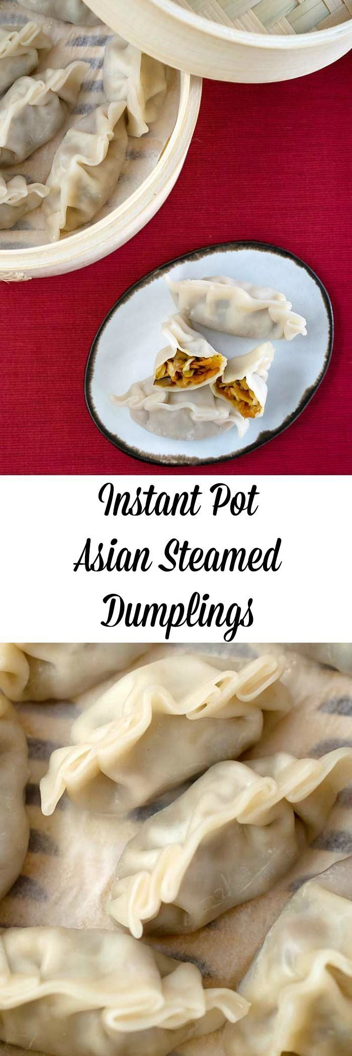 A recipe to make vegan asian steamed dumplings in your new Instant Pot! It's from my new cookbook, The Ultimate Vegan Cookbook for Your Instant Pot! More vegan Instant Pot recipes to come!