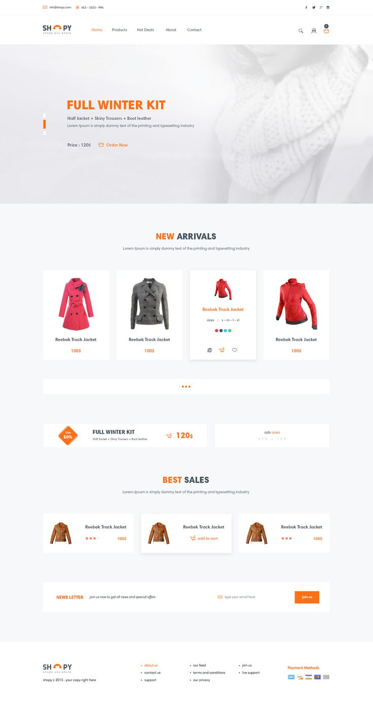 15 best Free E Commerce Web Template PSD images on Pinterest ...