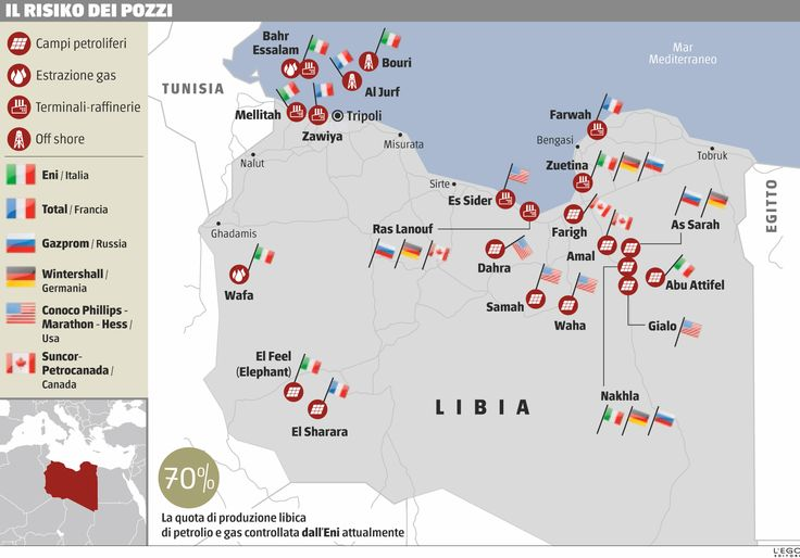 La mappa del petrolio libico che svela gli interessi in gioco #Infografica #Libia