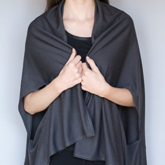 See how I made this simple wrap cardigan in only three steps. Very minimal sewing skills required.