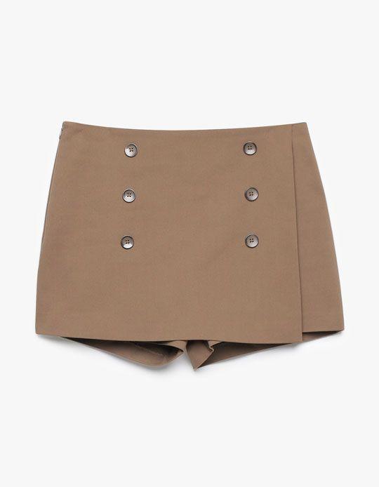 Stradivarius Falda pantalón botones