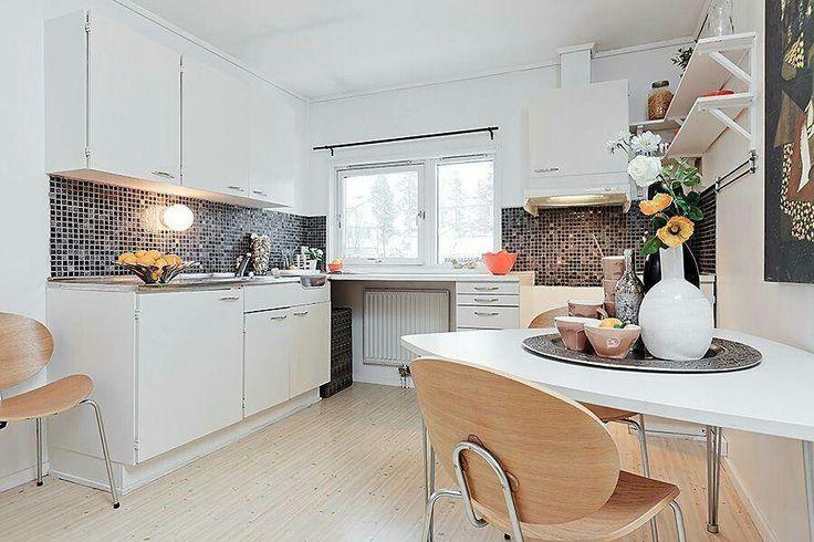 Cocina y comedor en un espacio pequeño