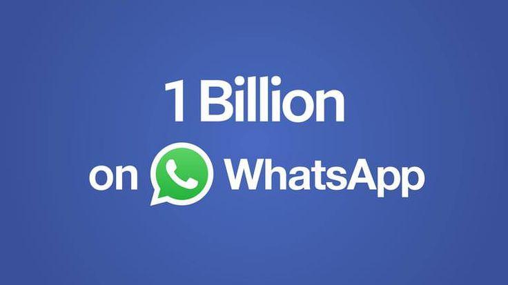 Dünyanın en popüler mesajlaşma uygulaması Whatsapp 1 milyarkullanıcı sayısına ulaştı ve rekorunu kırmış oldu.