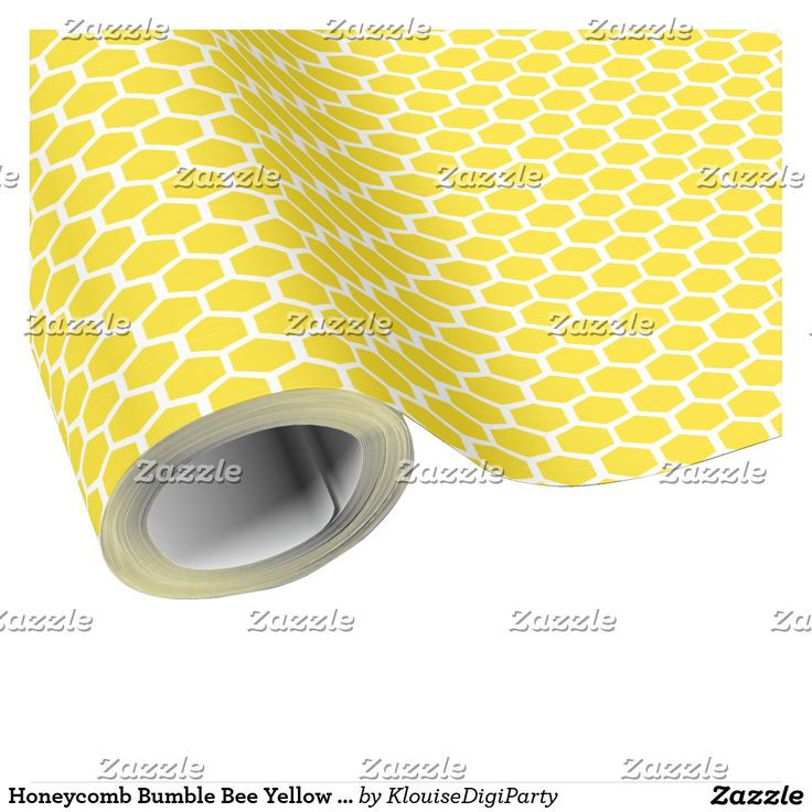Honeycomb Bumble Bee Yellow Pattern Wrapping Paper