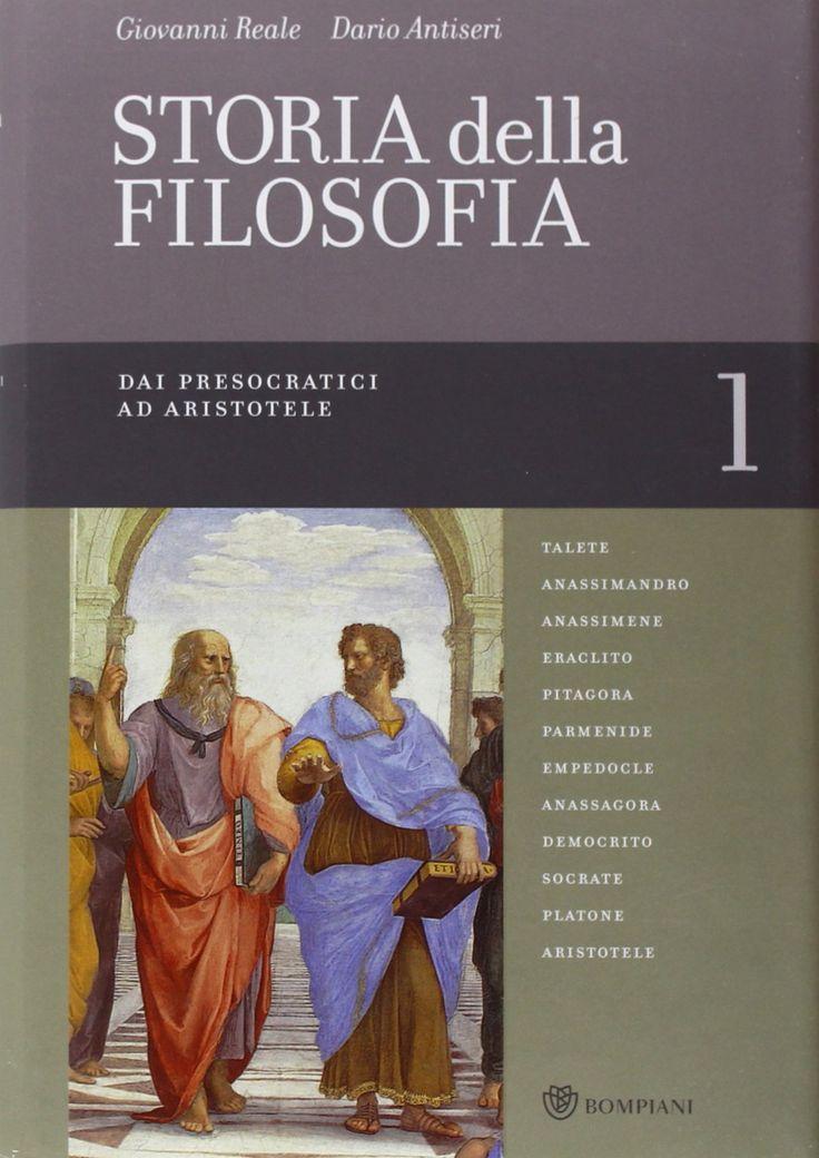 Amazon.co.uk: Storia della filosofia dalle origini a oggi (Italian) Hardcover – Nov 2009 by Dario Antiseri (Author), Giovanni Reale (Author) Hardcover  £14.27 1 New from £14.27