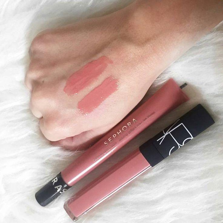 Sephora Colorful Gloss Balm in Earth Angel ($10) vs. Nars Lip Gloss in Chelsea Girls ($26)