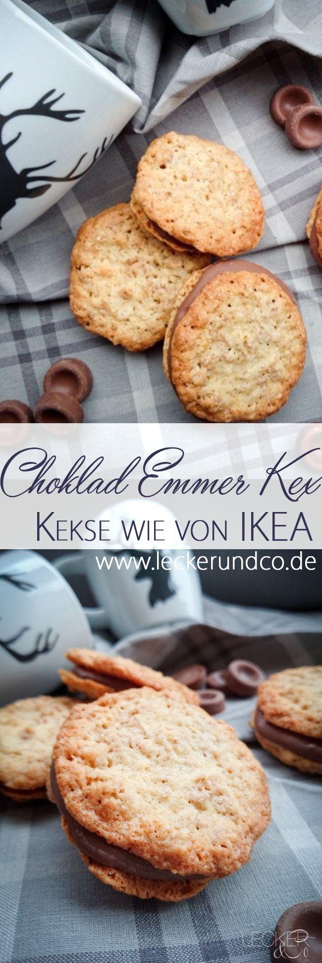 Kekse wie von IKEA: Kekse aus Emmerflocken (Haferflocken) mit Schokofüllung