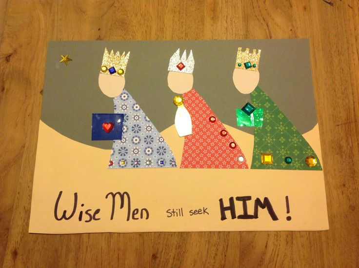Wise men still seek HIM. Theme for this month kids church.