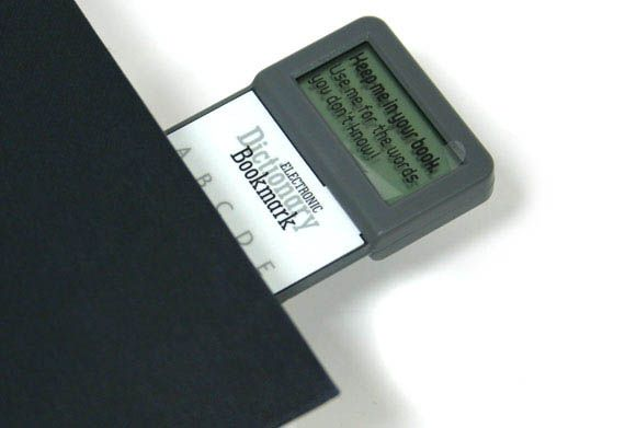 Stop Losing The Plot, Get An Electronic Dictionary Bookmark via @Incredible Things