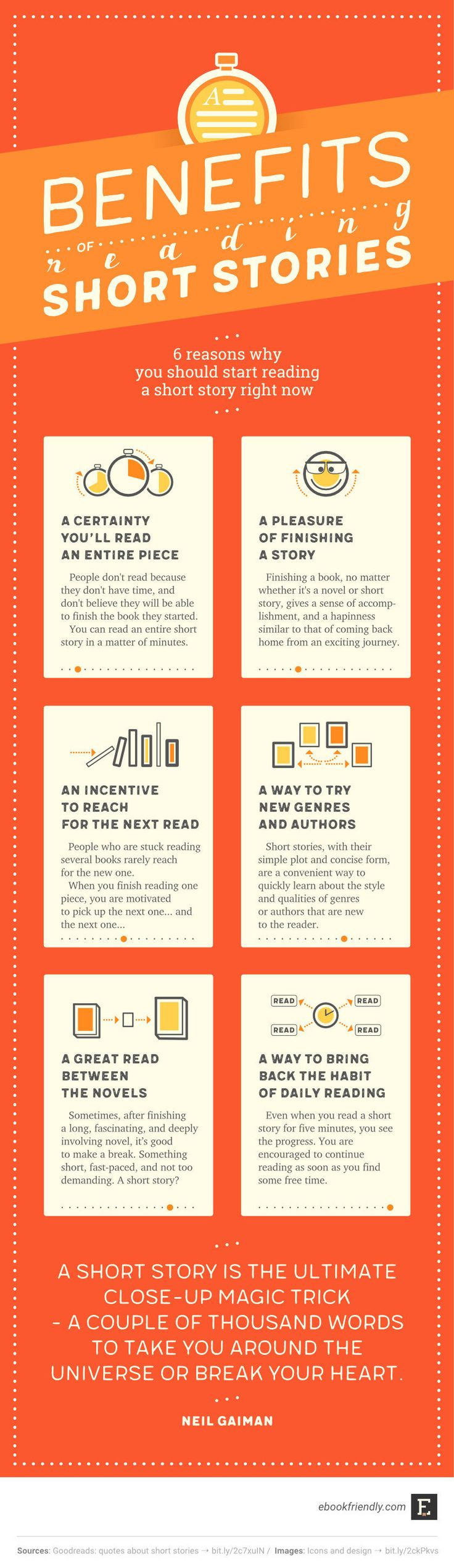 Benefits Of Reading Short Stories (infographic)